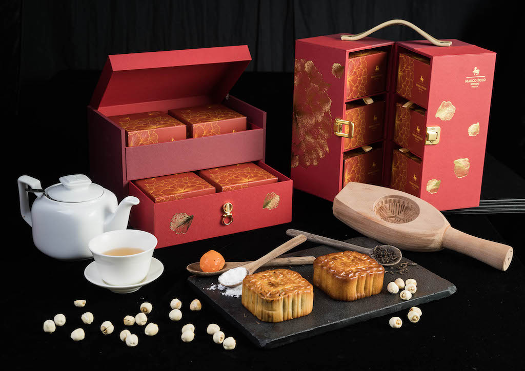 This year's featured mooncakes at the Marco Polo Ortigas Manila are inspired by traditional flowers from the Orient